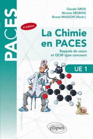UE1 - La chimie en PACES - Rappels de cours et QCM type concours - ellipses - 9782340027497