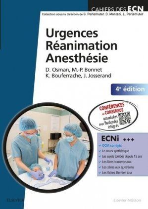 Urgences  RéanimationAnesthésie-elsevier / masson-9782294749551