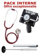 PACK INTERNE - Tensiom�tre manopoire SPENGLER Lian Nano - St�thoscope Magister - Marteau r�flex Spengler - Lampe stylo � LED Litestick Spengler - BORDEAUX