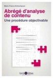 Abrégé d'analyse de contenu - Une procédure objectivable