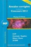 Annales corrigées des problèmes posés aux concours 2013 Physique et chimie MP