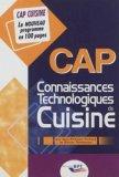 CAP Connaissances technologiques de cuisine