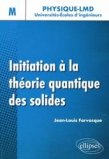 Initiation � la th�orie quantique des solides