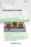 L'information géographique (2/2017) Patrimoines du monde