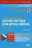 Lecture critique d'un article médical (LCA)