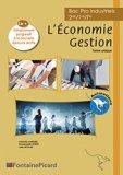 LIVRE DU PROFESSEUR ECONOMIE GESTION BAC PRO INDUSTRIELS