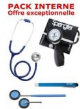 PACK INTERNE - Tensiom�tre manopoire SPENGLER Lian Nano - St�thoscope Magister - Marteau r�flex Spengler - Lampe stylo � LED Litestick Spengler - BLEU MARINE