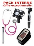PACK INTERNE - Tensiom�tre manopoire SPENGLER Lian Nano - St�thoscope Magister - Otoscope Spengler SMARTLED � LED et fibre optique - OXYLED Oxym�tre de pouls -Lampe stylo � LED Litestick Spengler - ROSE