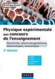 Physique expérimentale aux concours de l'enseignement
