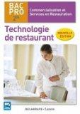 Technologie de restaurant 2de Bac Pro CSR (2016) - Pochette élève