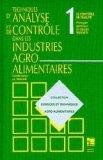 Techniques d'analyse & de contrôle dans les industries agro-alimentaires