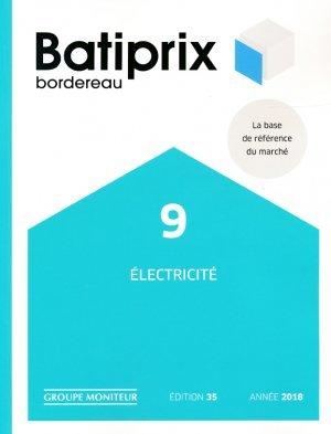 batiprix 2018 volume 9 lectricit collectif 9782281141818 groupe moniteur batiprix etudes. Black Bedroom Furniture Sets. Home Design Ideas