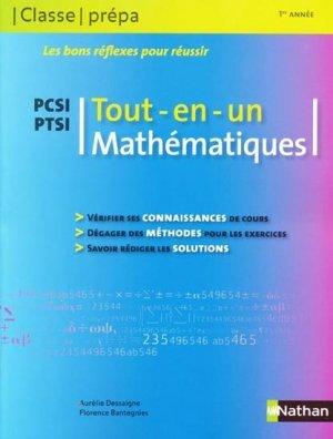Tout En Un Mathématiques Pcsi Ptsi Classe Prépa 1re Année Aurélie